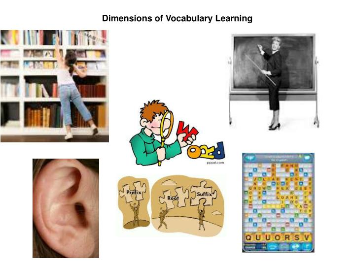 Dimensions of Vocabulary Learning