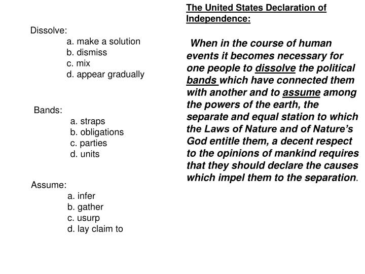 The United States Declaration of Independence: