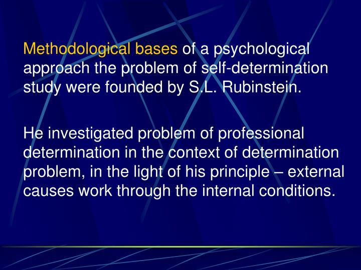 Methodological bases