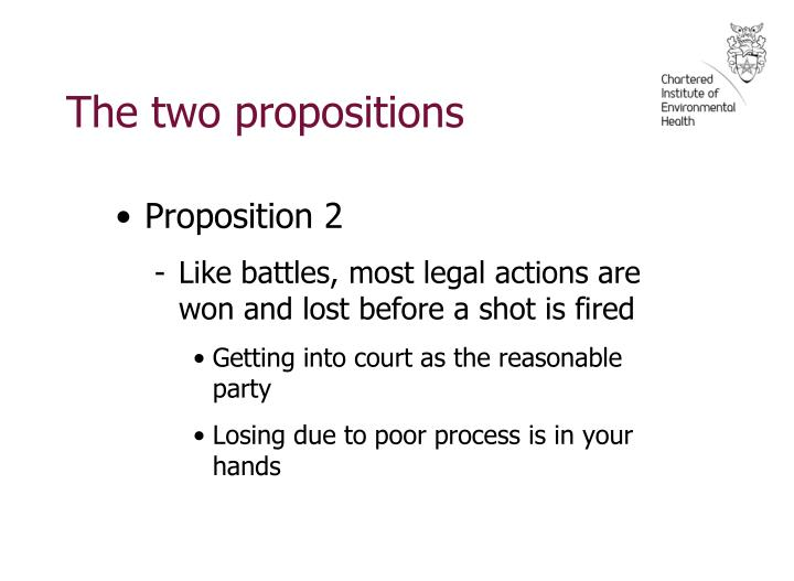The two propositions