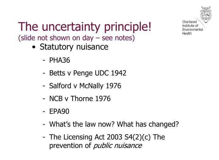 The uncertainty principle!