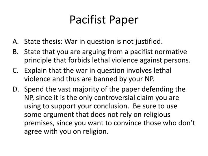 Pacifist Paper