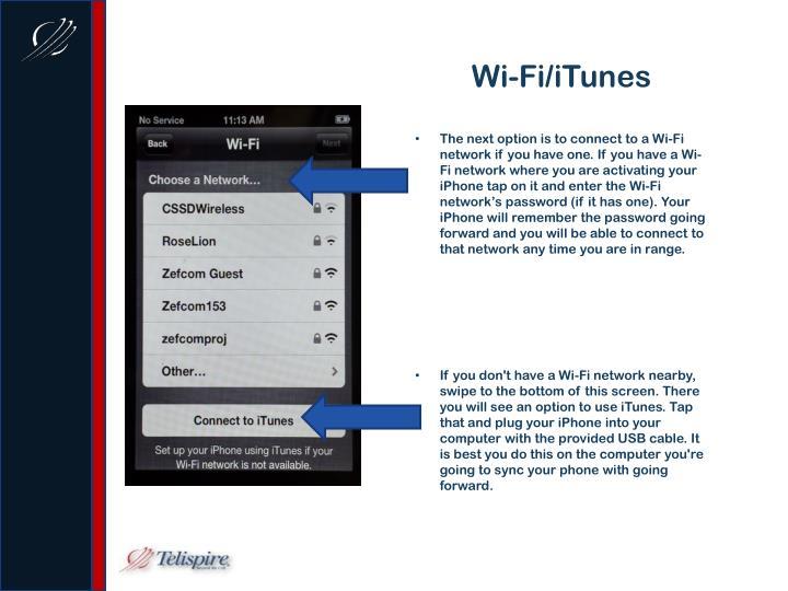 Wi-Fi/iTunes