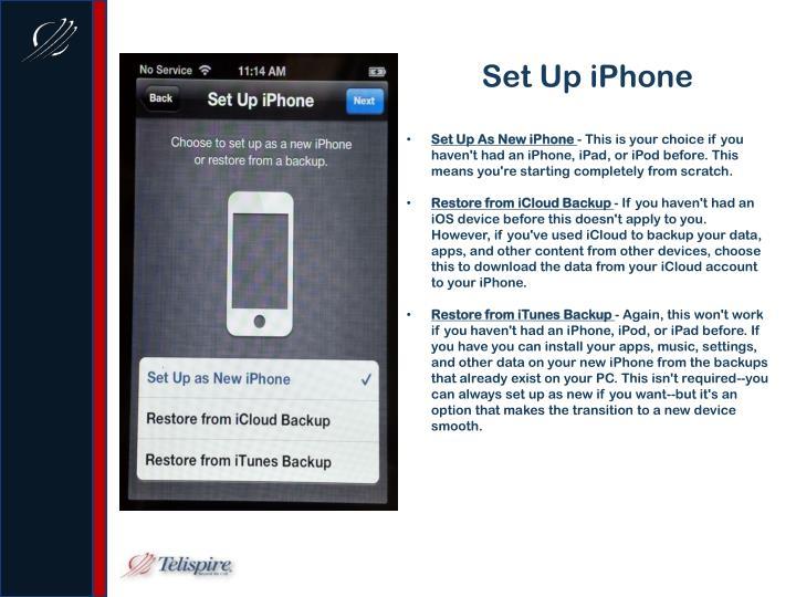 Set Up iPhone