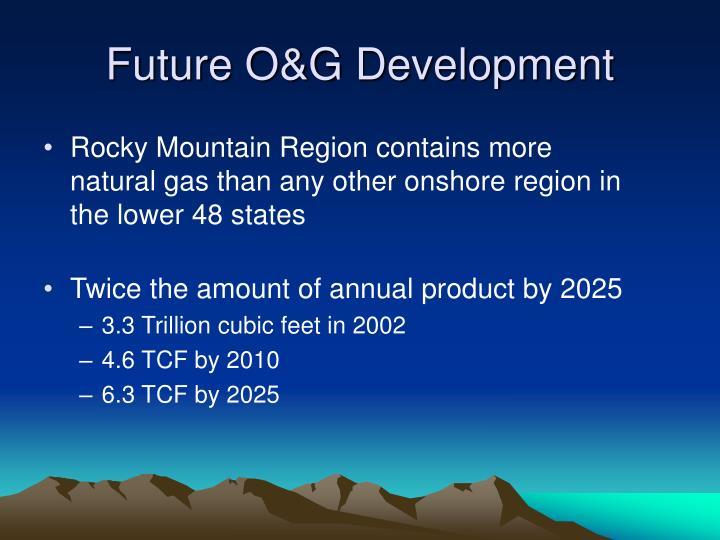 Future O&G Development