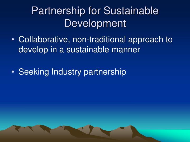 Partnership for Sustainable Development