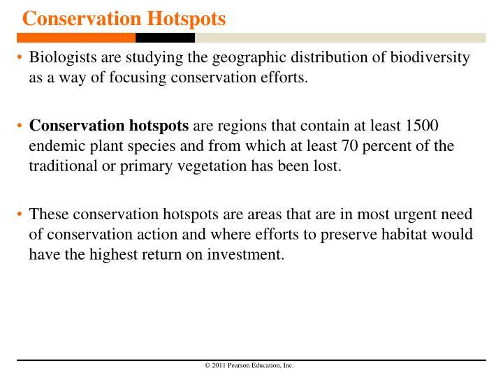 Conservation Hotspots