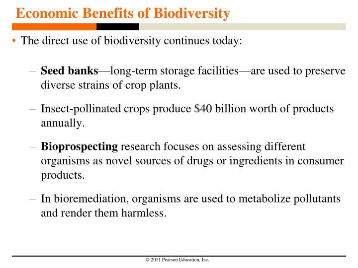 Economic Benefits of Biodiversity