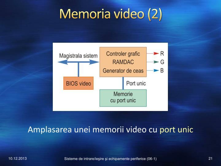 Memoria video