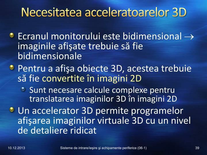 Necesitatea acceleratoarelor 3D