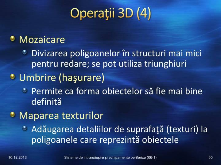 Operaţii 3D (4)