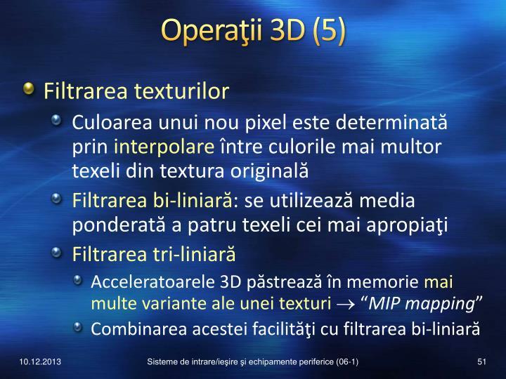 Operaţii 3D
