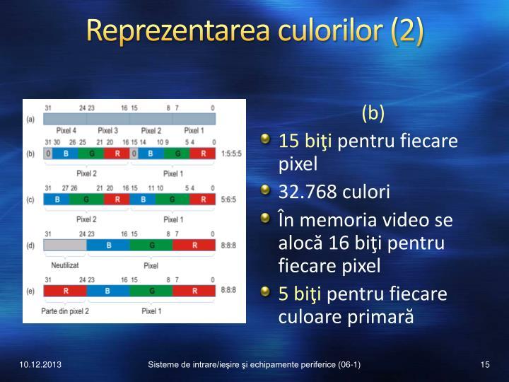Reprezentarea culorilor (2)