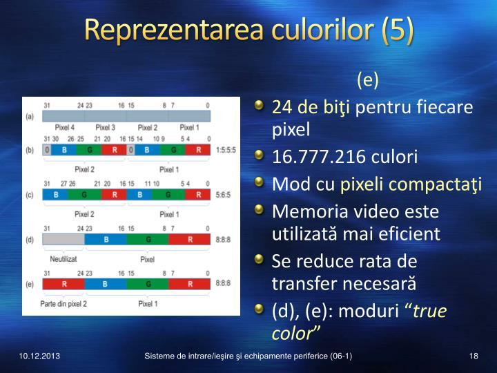 Reprezentarea culorilor (5)