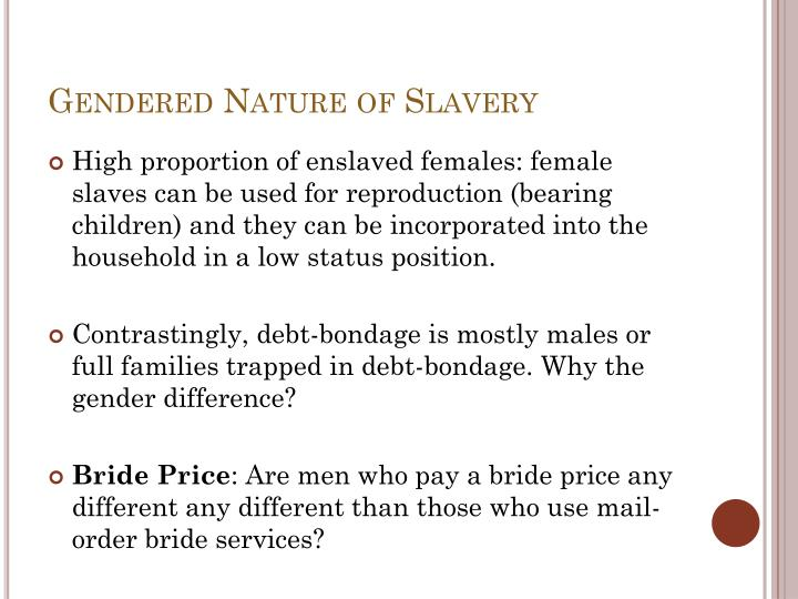 Gendered Nature of Slavery