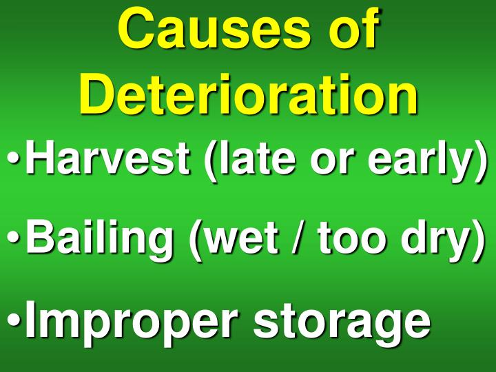 Causes of Deterioration