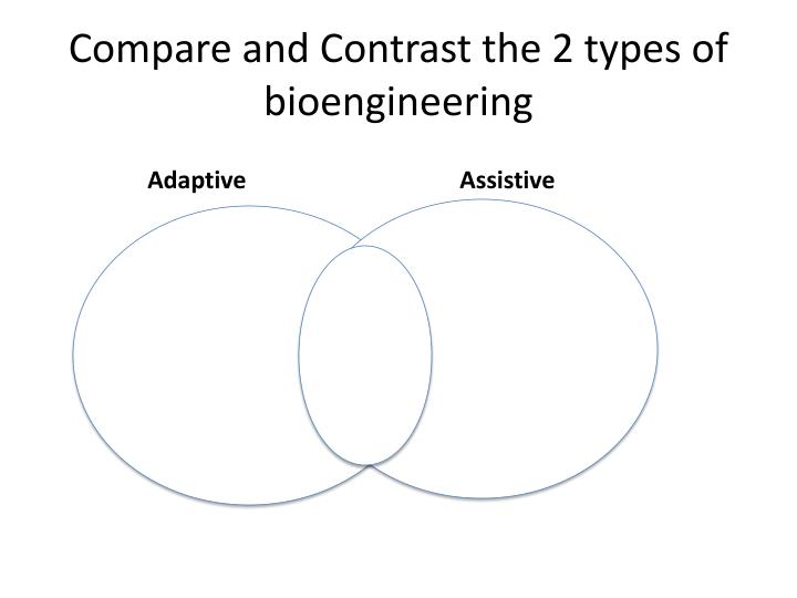 Compare and Contrast the 2 types of bioengineering
