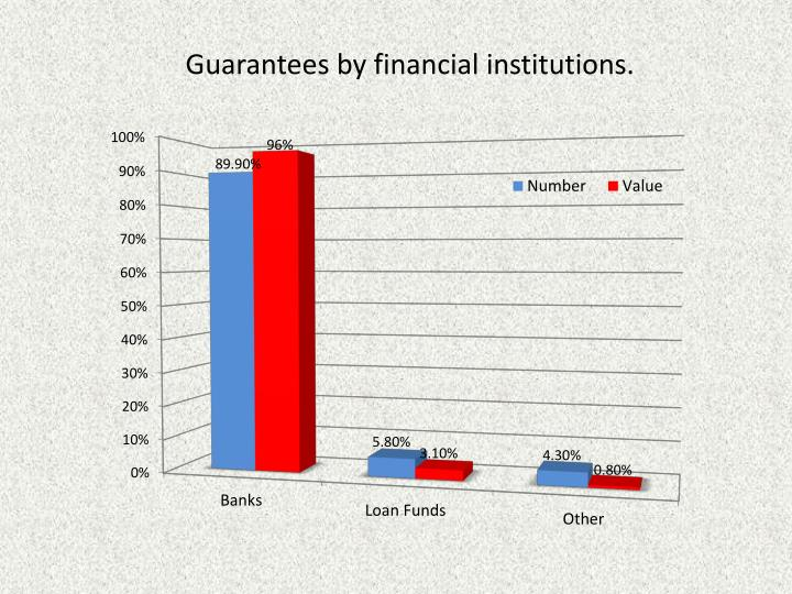 Guarantees by financial institutions.