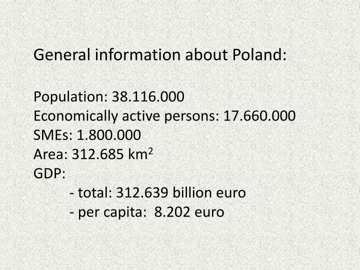 General information about Poland: