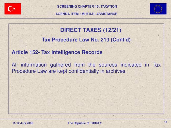 Tax Procedure Law
