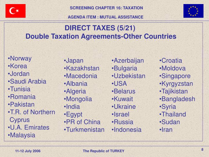 SCREENING CHAPTER 16: TAXATION