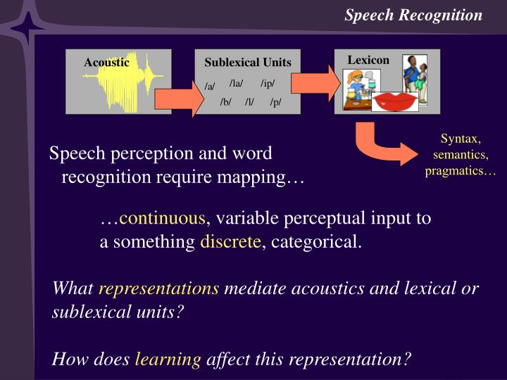 Learning speech