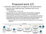 proposed work 2 3