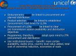 procurement challenges llin or itn strategic procurement efficient programme planning execution