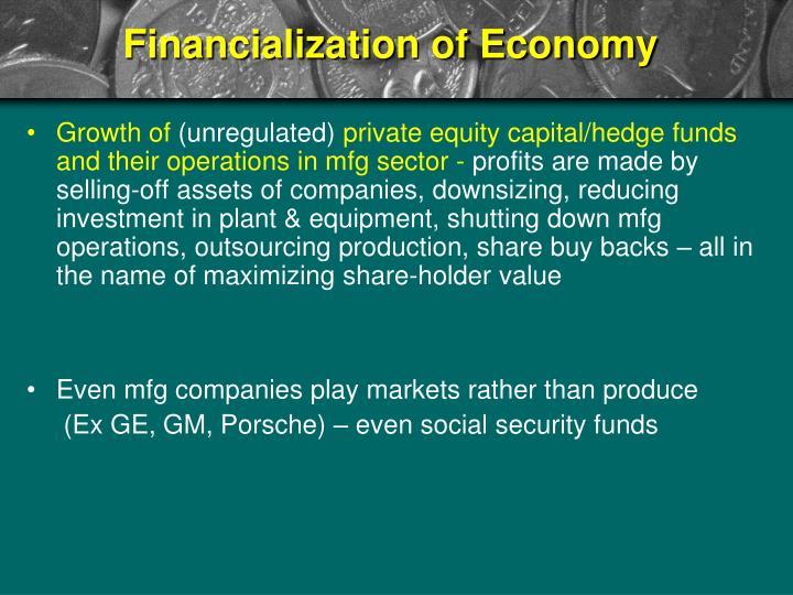 Financialization of Economy