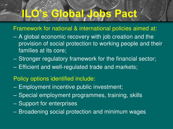 ILO's Global Jobs Pact