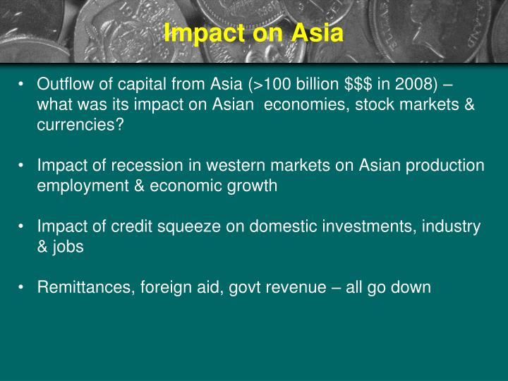 Impact on Asia
