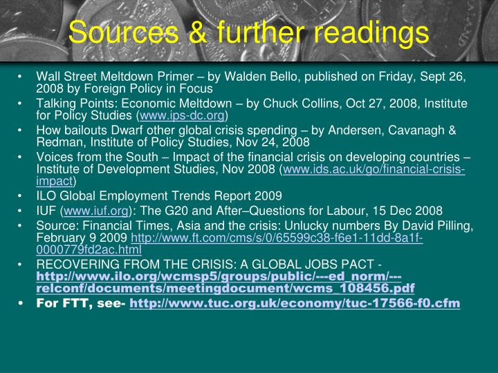 Sources & further readings