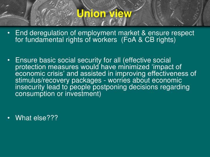 Union view