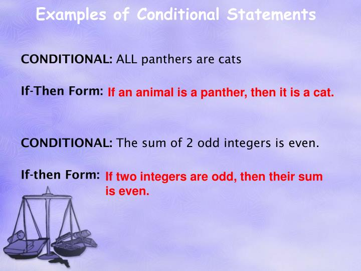Examples of Conditional Statements