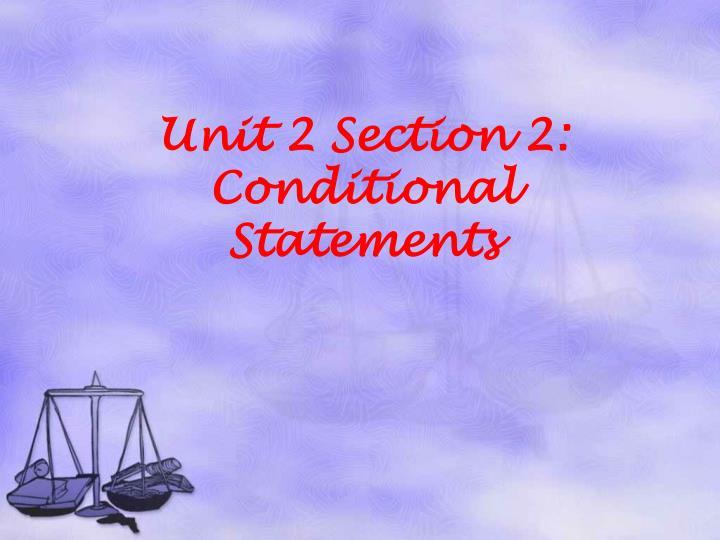 Unit 2 Section 2: