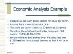economic analysis example