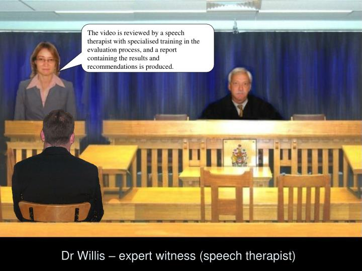 The video is reviewed by a speech therapist with specialised training in the evaluation process, and a report containing the results and recommendations is produced.