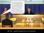 ms tait plaintiff spoken by court reporter1