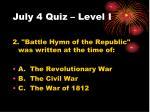 july 4 quiz level i1