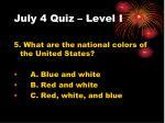 july 4 quiz level i4