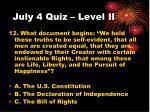 july 4 quiz level ii3