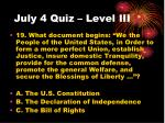 july 4 quiz level iii2
