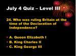 july 4 quiz level iii7