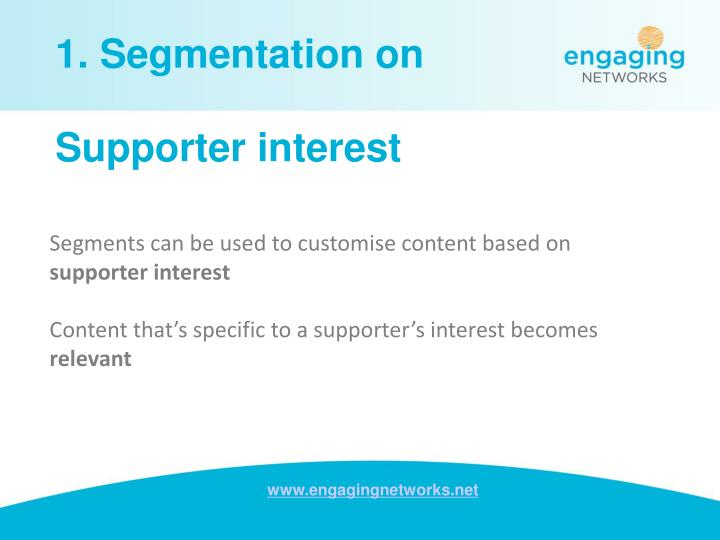 1. Segmentation on