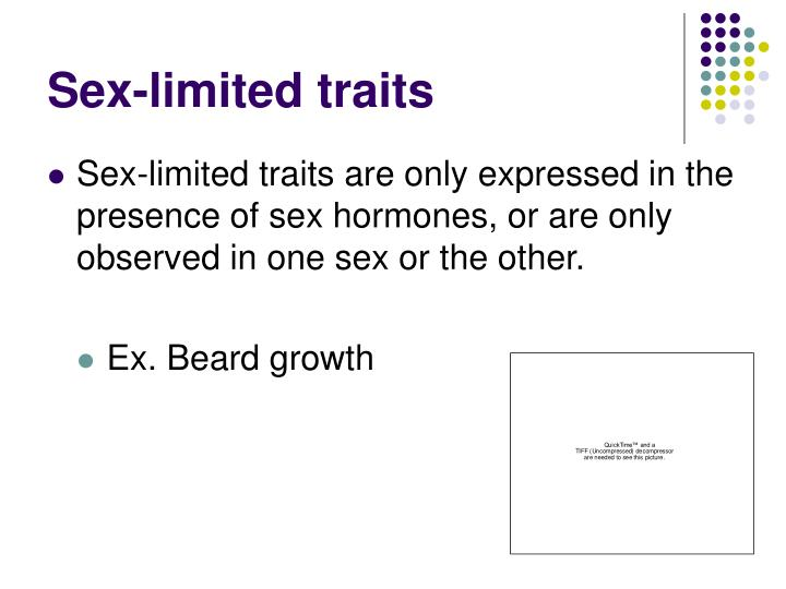 Sex-limited traits
