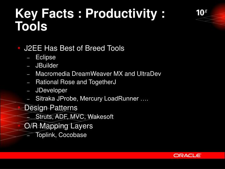 Key Facts : Productivity : Tools