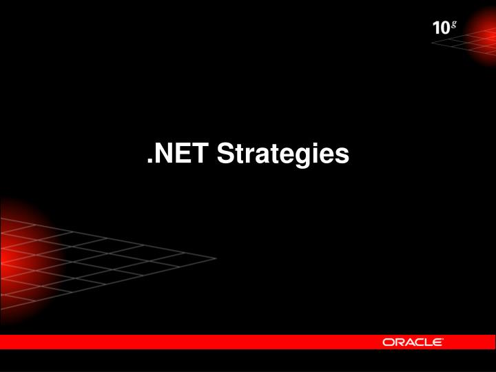 .NET Strategies