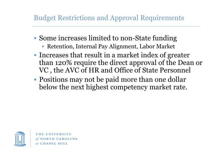 Budget Restrictions and Approval Requirements