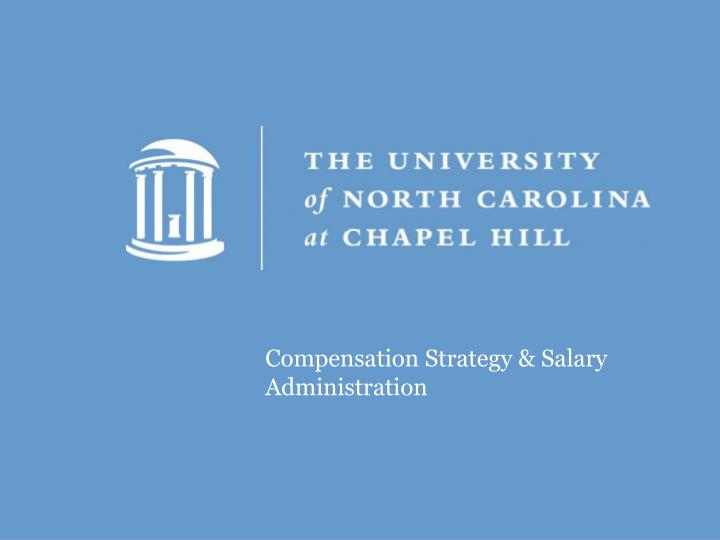Compensation Strategy & Salary Administration