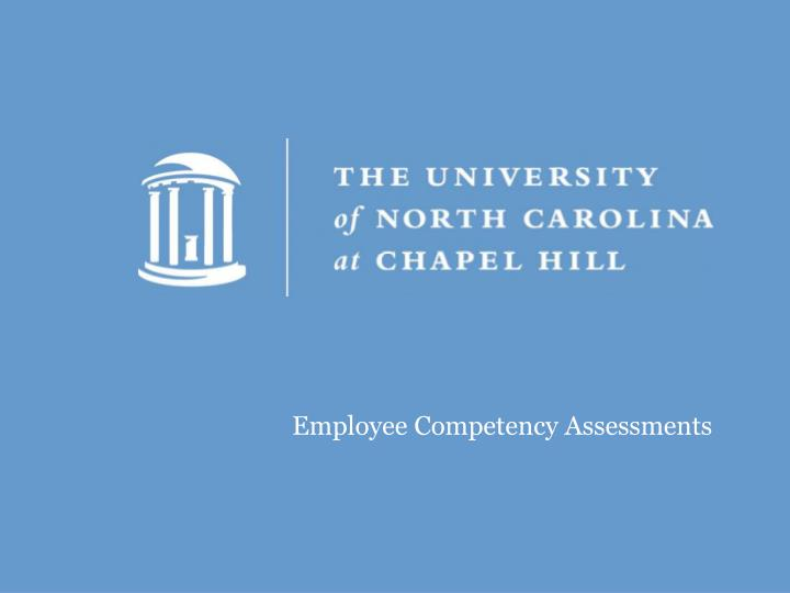 Employee Competency Assessments